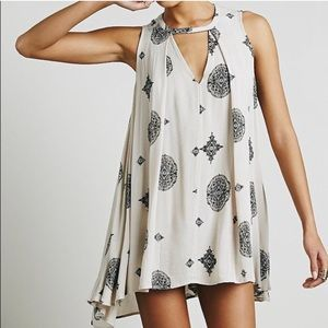 Free People flowy trapeze dress with cut-out
